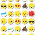 Emoji Emoticon Mini Edible Cupcake Toppers - Pre-cut Sheet of 30 - EI034MC