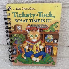 2021/2022 Financial Year  Upcycled Little Golden Book Diary - Tickety - Tock