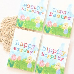 4 Easter Mini Cards, Gift Tags - Use to Gift Wrap