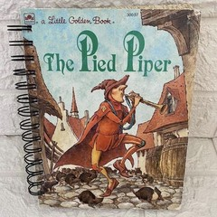 2021/2022 Financial Year Upcycled Diary -  Little Golden Book - The Pied Piper