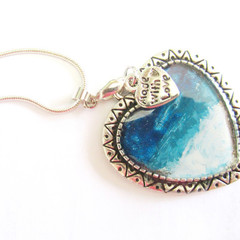 Resin Heart Pendant Ocean theme 4