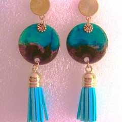 Resin  Drop Stud earring Set 2