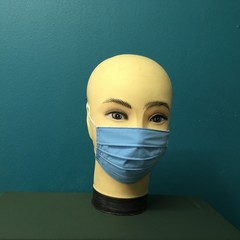 Fashion Blue PolyCotton Mask