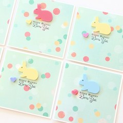 Some Bunny Loves You Easter card | 8 Colours to Choose From | Limited Edition