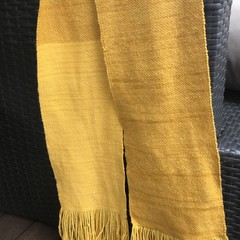 Hand dyed hand woven merino scarf