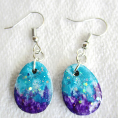 Resin  Easter Egg Drop earrings