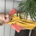 Hand dyed hand woven merino scarf