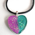 Resin Heart Pendant 1