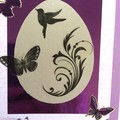 Purple Easter Card with Symbols of New Life