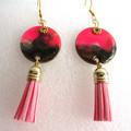 Resin  Drop Stud earring Set