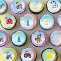 Farm Farmyard Mini Edible Cupcake Toppers - Pre-cut Sheet of 30 - EI028MC