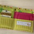 Tea wallet - tea bag holder gift idea, picnic, organiser