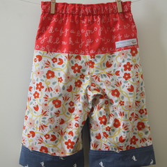 Reversible Pants size 1-2 - trousers for toddlers, boys, girls or unisex