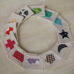 Memory Game - fabric memory set, shapes, colours, rainbow, unisex toy