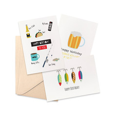 Set of 3 Cards, Birthday Card Pack for Men, CP3_007