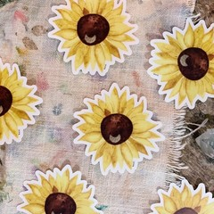 Watercolour Sunflower Sticker