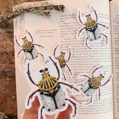 Watercolour Goliath Beetle Sticker