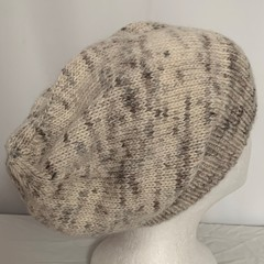 Unisex adult hand-knitted 100% AUSSIE-ALPACA-2 slouchy-beanies