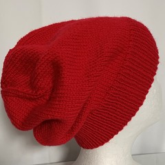 Unisex adult hand  knit slouchy/beanieLuxury- wool page 2/2