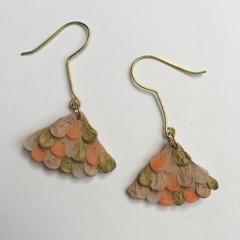 Polymer Clay Earrings - Statement Earrings Mermaid