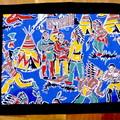 Placemats(4)-American Indian Reto 1950 original fabric