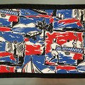 Placemats (6) - Retro 1950's fabric-30cm x 22cm