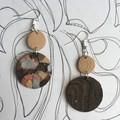 Polymer Clay Earrings - Statement Earrings Paint
