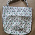 white and green peacocks eco-friendly shopping bag