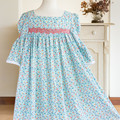 380 Handmade girls' smock in soft cotton, age 12, Rose & Hubble floral print