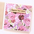 Happlily Ever After Card, Vintage, Wedding Card, Engagement Card, Anniversary