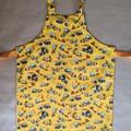 Handmade yellow construction kids apron