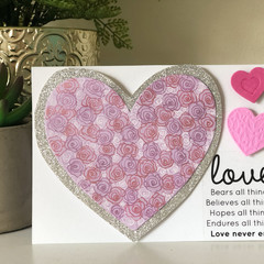 'Love Never Ends' Card
