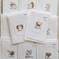 Handstamped Cards pack of 11