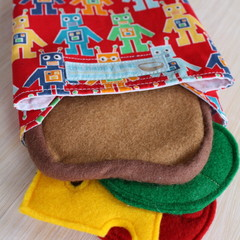 Sandwich wrap, LARGE - eco-friendly, reusable and washable!