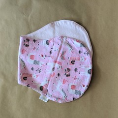 Burp Cloth with pink unicorns