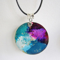 Resin Wood  Pendant 2