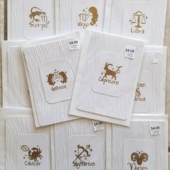 Handstamped Cards pack of 11