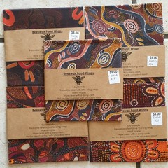 beeswax wraps pack of 5  bees or indigenous