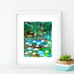 'Dream of Kakadu'. A4 or A3 Reproduction Art PRINT of my mixed media painting