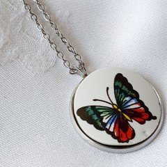Colourful Butterfly pendant