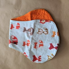 Burp Cloth with foxes