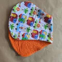 Burp Cloth with safari caravans