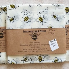 beeswax wraps pack of 2, 3 or 4