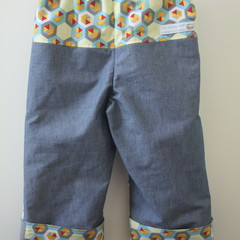Reversible Pants size 2-3 - trousers for toddlers, boys, girls or unisex