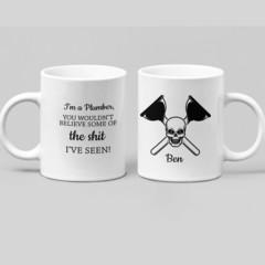 Plumber Funny Cup Ceramic Personalised Coffee Tea Mug - CM017