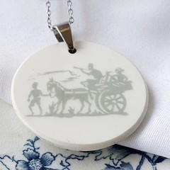 Donkey and Cart Pendant