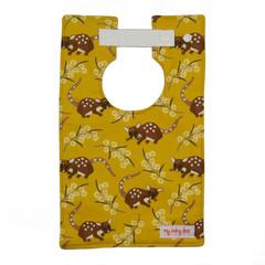 Quolls on Mustard Large Style Bib