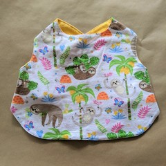 Sloths handmade stay on bib.