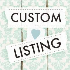 Custom Order for Yvonne