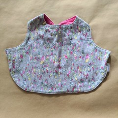 Feathers handmade stay on bib.